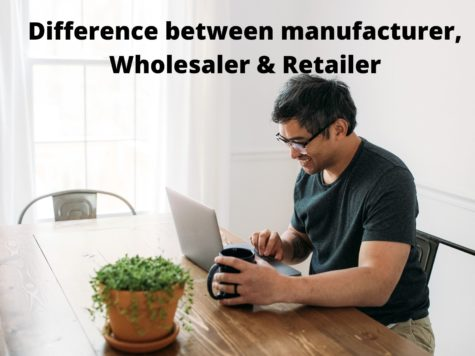Difference between manufacturer, Wholesaler & Retailer