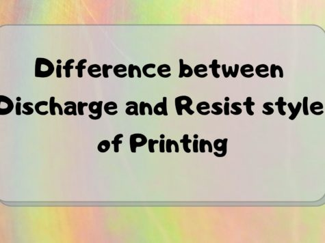 Difference between Discharge and Resist style of Printing