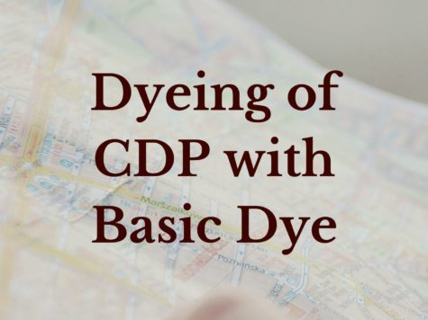 Dyeing of CDP with basic dye