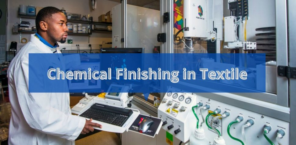 Chemical finishing in textile