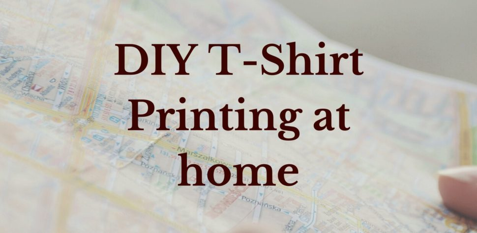 DIY T-shirt Printing at home